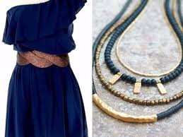 metal necklace dress images Which color jewelry goes with dark blue dresses everafterguide jpg
