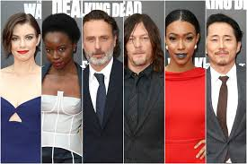 new walking dead cast 2016 let s all yell at the cast of the walking dead on the red carpet