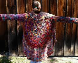 custom psychedelic spiral sweater by iflythecircus by natalie f