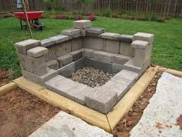 home design how to build a cinder block fire pit rustic kitchen