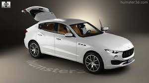 maserati levante white 360 view of maserati levante with hq interior 2017 3d model