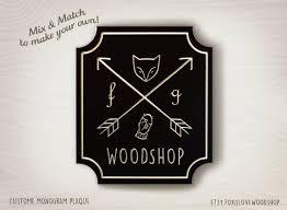 monogram plaques monogram name and letter sign vintage wood badge door name