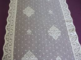 Antique French Lace Curtains by Vintage Nottingham Cotton Lace Curtain Panels