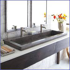 bathroom sink double trough bathroom sink undermount double