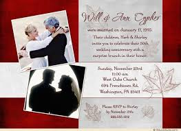 40th wedding anniversary party ideas templates 40th wedding anniversary invitations free also