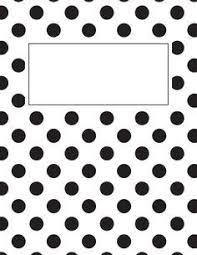 free printable black and white chevron binder cover template