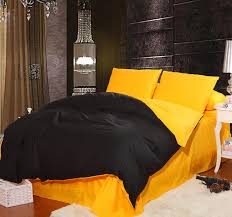 Black And Yellow Duvet Cover Compare Prices On Duvet Black Online Shopping Buy Low Price Duvet