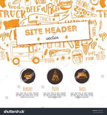 Litora Torqent Per Conubia by Junk Food Restaurant Vector Site Header Stock Vector 688879051