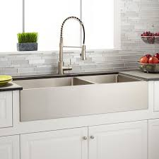 42 inch farmhouse sink 39 atwood 60 40 offset double bowl stainless steel farmhouse sink