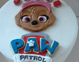 3d paw patrol character cake topper chase marshall rubble skye