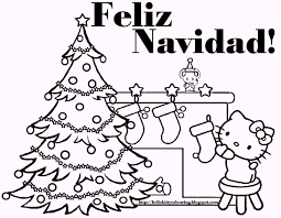 feliz navidad coloring pages completed with lyrics coloring pages