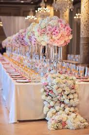 flower table decorations pink flower table best centerpieces the 50th wedding