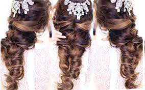updos for curly hair i can do myself easy crisscross half updo hairstyle wedding homecoming