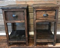 Rustic End Tables Rustic End Table Etsy