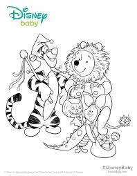 halloween winnie pooh coloring pages disney baby