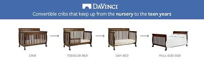 Baby Crib Convertible To Toddler Bed Davinci Kalani 4 In 1 Convertible Crib Espresso
