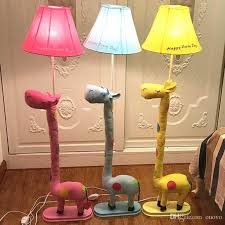 2018 New Modern Cute Fabric Giraffe Floor Lamp Romantic Rural