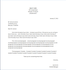 business letter format cover letter standard cover letter format