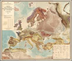 Geographic Map Of Europe by Amazingly Detailed International Tectonic Map Of Europe