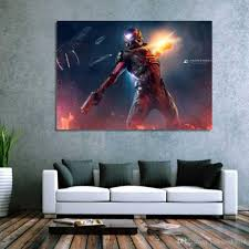 Wall Art Paintings For Living Room 2017 Mass Effect Andromeda Wall Art Canvas Pictures For Living