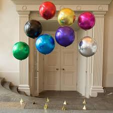 metallic balloons metallic balloons orb 16 balloon party palace