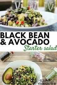 black bean and avocado salad simple party recipe