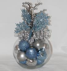 home design ideas blue and silver christmas decorations idea for