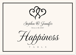 link hearts wedding table names and wedding table card