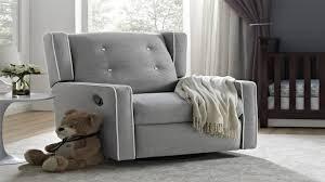 ba relax mikayla upholstered swivel gliding recliner gray youtube