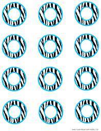 blue zebra birthday party printables