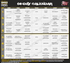 Hammer U0026 Chisel Workout Schedule Free Download Rippedclub