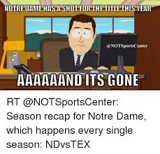 Notre Dame Football Memes - notre dame has a shot for the title this year a notsportscenter