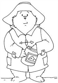 paddington bear colouring pages free print colour