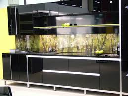 high gloss black kitchen cabinets kitchen amusing black high gloss wood kitchen cabinet with green