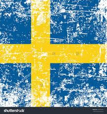 Blue And Yellow Cross Flag Swedish Flag Grunge Effect Stock Vector 218575375 Shutterstock