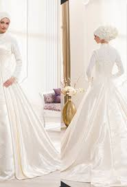 wedding dress for muslim sleeves muslim wedding dress with high neck appliques