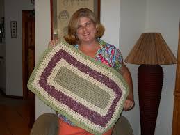 Easy Crochet Oval Rug Pattern Crochet Rectangle Rag Rug Tutorial Part 1 Youtube
