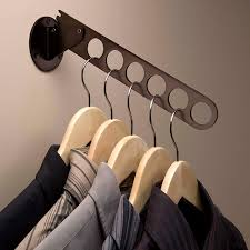 create convenient sturdy hanging storage for clothes hangers with