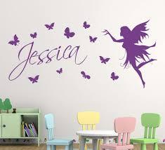 aliexpress com buy butterfly fairy girls wall art wall sticker