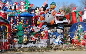 Christmas Decorated Houses Infalatable Hoarder Christmas House Decorations Home U0026 Garden Do