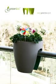 blumentopf balkon greenbo planter balkon pflanzgefäß grau blumentopf günstig