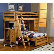 Bunk Bed Loft With Desk Bunk Bed With Desks And Fold Out Chair Imanada Beds Loft Desk