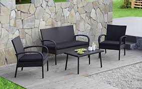 Superstore Patio Furniture by Carlota Furniture 4 Piece Wicker Rattan Patio Set With Detachable