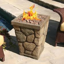 Interior Design 21 Table Top Propane Fire Pit Interior Accessories Exciting Tall Grey Brick Stone Wall Propane Fire Pits