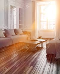 Rooms With Laminate Flooring Bright Sunlight Streaming Into A Living Room Interior With A