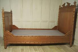 Pine Sleigh Bed Frame Single Faux Bamboo Pine Sleigh Bed Antiques Atlas