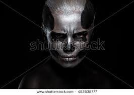 halloween woman day dead mask skull stock photo 482645038