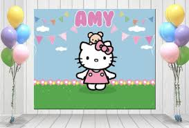Photo Backdrops For Parties Hello Kitty Party Ideas By A Professional Party Planner