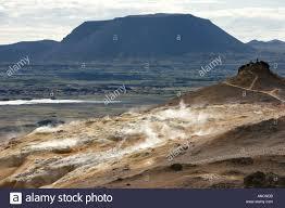 Table Top Mountain by Tabletop Mountain Leirhnjùkuri Iceland Near Lake Myvatn Volcano