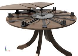circle table that gets bigger self expanding round table 3d cad model library grabcad